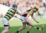 Niall Deasy of Ballyea in action against Graham Callanan of Glen Rovers during their Munster Club hurling final at Thurles. Photograph by John Kelly.7/10