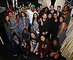 "High School student performers backstage before The Rockefeller Foundation and The Gilder Lehrman Institute of American History sponsored High School student #EduHam matinee performance of ""Hamilton"" at the Richard Rodgers Theatre on 5/10/2017 in New York City."