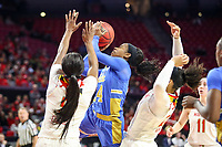 College Park, MD - March 25, 2019: UCLA Bruins guard Japreece Dean (24) shoots the ball during game between UCLA and Maryland at  Xfinity Center in College Park, MD.  (Photo by Elliott Brown/Media Images International)