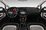 Stock photo of straight dashboard view of 2016 KIA Ceed_SW 5 Door Wagon Dashboard