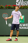 March 11, 2019: Yoshihito Nishioka (JPN) defeated Felix Auger-Aliassime (CAN) 6-7, 6-4, 7-6 at the BNP Paribas Open at the Indian Wells Tennis Garden in Indian Wells, California. ©Mal Taam/TennisClix/CSM