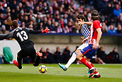 2nd December 2017, Wanda Metropolitano, Madrid, Spain; La Liga football, Atletico Madrid versus Real Sociedad; Filipe Luis Kasmirski (3) of Atletico Madrid gets his shot away