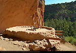Reconstructed Kiva, Alcove House, Anasazi Ancestral Puebloan Cliff Dwelling, Bandelier National Monument, Frijoles Canyon, Pajarito Plateau, Los Alamos, New Mexico