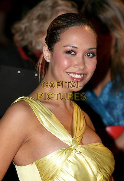 "MYLEENE KLASS.Arriving at the 2007 ""Brit Awards"" at Earls Court, London, UK..February 14th , 2007.brits headshot portrait .CAP/ROS.©Steve Ross/Capital Pictures"