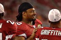 Aug. 31, 2006; Glendale, AZ, USA; Arizona Cardinals defensive tackle (90) Darnell Dockett against the Denver Broncos at Cardinals Stadium in Glendale, AZ. Mandatory Credit: Mark J. Rebilas