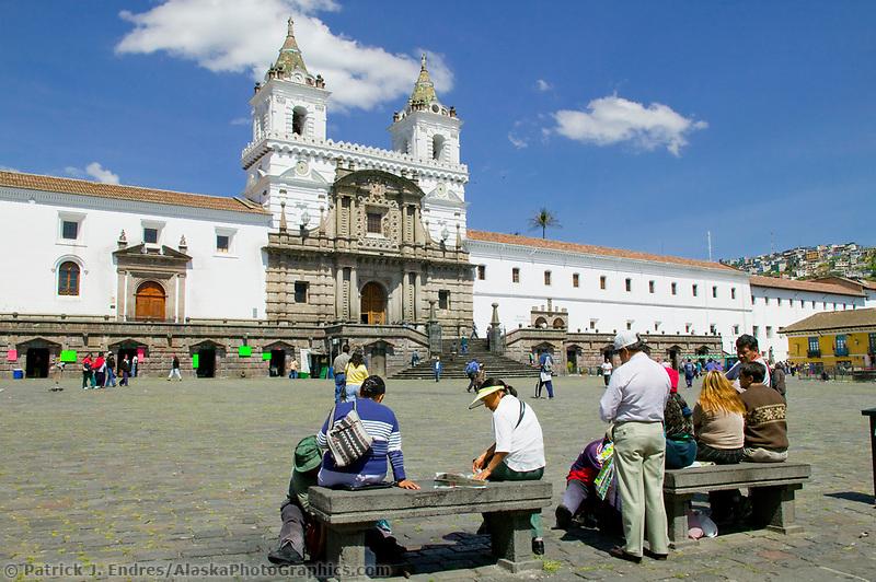 Monastery of Saint Francis, in Quito, Ecuador