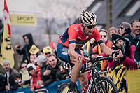 Vincenzo Nibali (ITA/Bahrain-Merida) up the Paterberg<br /> <br /> 102nd Ronde van Vlaanderen 2018 (1.UWT)<br /> Antwerpen - Oudenaarde (BEL): 265km