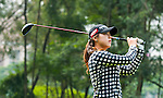 Yea-Lin Kang of Korea in action during the Hyundai China Ladies Open 2014 on December 10 2014 at Mission Hills Shenzhen, in Shenzhen, China. Photo by Xaume Olleros / Power Sport Images