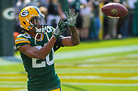 Green Bay Packers cornerback Kevin King (20) during a National Football League game against the Seattle Seahawks on September 10, 2017 at Lambeau Field in Green Bay, Wisconsin. Green Bay defeated Seattle 17-9. (Brad Krause/Krause Sports Photography)