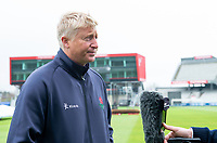 Picture By Allan McKenzie/SWpix.com - 11/04/18 - Cricket - Lancashire County Cricket Club Photo Call Media Day 2018 - Emirates Old Trafford, Manchester, England - Glen Chappell is interviewed.