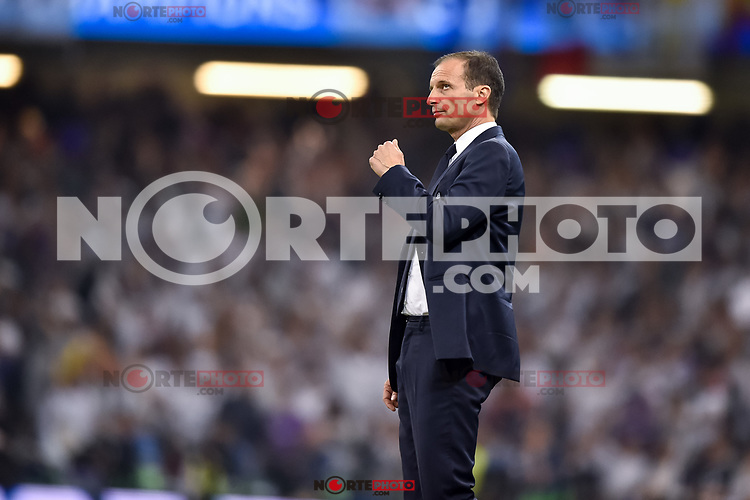 Massimiliano Allegri manager of Juventus during the UEFA Champions League Final match between Real Madrid and Juventus at the National Stadium of Wales, Cardiff, Wales on 3 June 2017. Photo by Giuseppe Maffia.<br /> <br /> Giuseppe Maffia/UK Sports Pics Ltd/Alterphotos /nortephoto.com