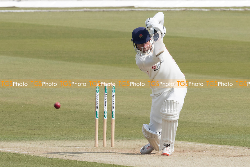 Dane Vilas of Lancashire CCC drives through cover during Middlesex CCC vs Lancashire CCC, Specsavers County Championship Division 2 Cricket at Lord's Cricket Ground on 13th April 2019
