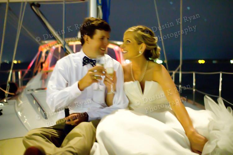 Newman Lawrance Wedding Sailing photos on Charleston Sailing Charters Fate