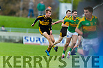 Fionn Fitzgerald Dr Crokes in action against Bryan Sheehan South Kerry in the Senior County Football Final in Austin Stack Park on Sunday