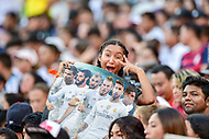 Landover, MD - August 4, 2018: A young fan is excited during the match between Juventus and Real Madrid at FedEx Field in Landover, MD.   (Photo by Phillip Peters/Media Images International)