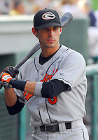 10 Aug 2007: Todd Davison of the Delmarva Shorebirds, Class A South Atlantic League affiliate of the Baltimore Orioles, in a game against the Greenville Drive at West End Field in Greenville, S.C. Photo by:  Tom Priddy/Four Seam Images