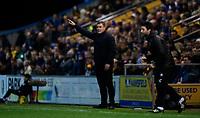 Mansfield Town manager David Flitcroft, left, and Lincoln City manager Danny Cowley<br /> <br /> Photographer Chris Vaughan/CameraSport<br /> <br /> The EFL Sky Bet League Two - Mansfield Town v Lincoln City - Monday 18th March 2019 - Field Mill - Mansfield<br /> <br /> World Copyright © 2019 CameraSport. All rights reserved. 43 Linden Ave. Countesthorpe. Leicester. England. LE8 5PG - Tel: +44 (0) 116 277 4147 - admin@camerasport.com - www.camerasport.com