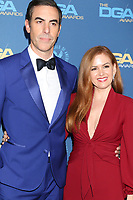 LOS ANGELES - FEB 2:  Sacha Baron Cohen, Isla Fisher at the 2019 Directors Guild of America Awards at the Dolby Ballroom on February 2, 2019 in Los Angeles, CA