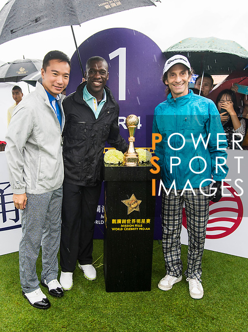 Players in action during the Mission Hills Celebrity Pro-Am on 25 October 2014, in Haikou, China. Photo by Aitor Alcalde / Power Sport Images