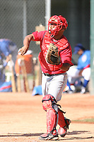 Carlos Ramirez, Los Angeles Angels 2010 minor league spring training..Photo by:  Bill Mitchell/Four Seam Images.