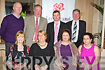 Pictured at the Lee Strand Social at the Ballygarry House Hotel on Saturday night, front row l-r: Deirdre Moynihan, Hannah Lynch, Sandra Byrne, Louise Morrisson. Back row l-r: Rory Byrne, Tim Brick, Anthony Morrisson and Tommy Moynihan .