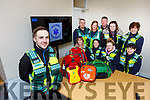 Damian Bakerand the Killarney Cardiac Response Unit team with some of their new life saving equipment front row l-r:  Eilish Coffey, Michelle Costello, Edwina Duggan. Back row: Leo O'Connor, Anne Kelly, Kevin Griffin, Aisling O'Connor and Eileen O'Connor