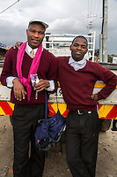 South Africa, Cape Town, Guguletu Township.  Two Young Men.