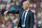 Manager Zinedine Zidane of Real Madrid reacts during the UEFA Champions League 2017-18 match between Real Madrid and APOEL FC at Estadio Santiago Bernabeu on 13 September 2017 in Madrid, Spain. Photo by Diego Gonzalez / Power Sport Images