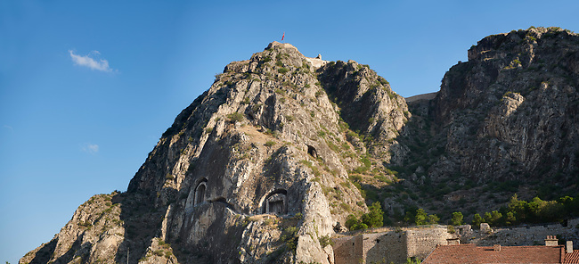 Royal rock tombs of Pontus including Mithridates I, died 266 BC. Amasya, Turkey
