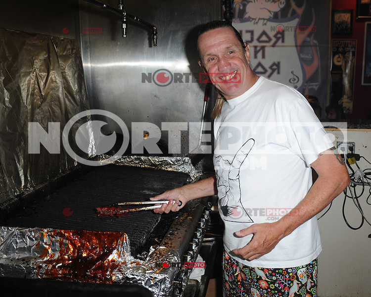 COCONUT CREEK, FL - OCTOBER 13 : Nicko McBrain of Iron Maiden performs at his Restaurant Rock N Roll Ribs on October 13, 2012 in Coconut Creek , Florida.©mpi04/MediaPunch Inc. /NortePhotoAgency
