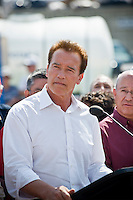 Jesusita fire press conference, Governor Arnold Schwarzenegger, Earl Warren Showgrounds, Santa Barbara, California. May 7, 2009
