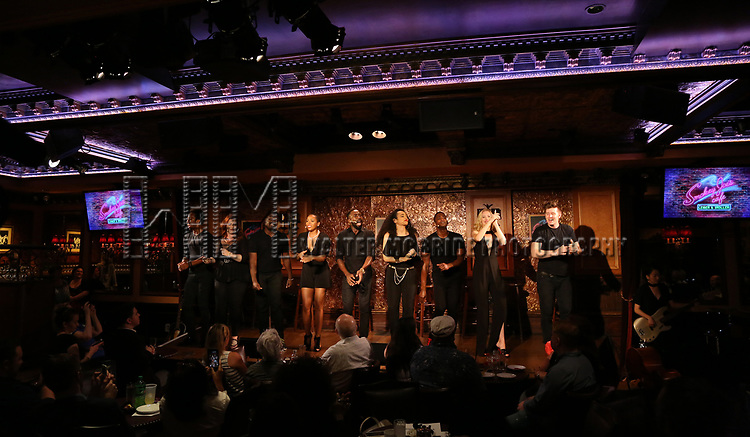 The cast during the Press Preview Presentation for the new production of 'Smokey Joe's Cafe' at Feinstein's/54 Below on June 27, 2018 in New York City.