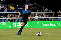 San Jose, CA - Tuesday June 11, 2019: François Affolter #3 during the US Open Cup match between the San Jose Earthquakes and Sacramento Republic FC at Avaya Stadium.
