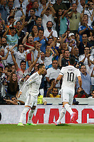 13.09.2014 SPAIN -  La Liga 14/15 Matchday 03th  match played between Real Madrid CF vs Atletico de Madrid Bernabeu stadium. The picture show Cristiano Ronaldo (Portuguese forward of Real Madrid) celebrating his team's goal