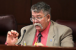Nevada Sen. Pete Goicoechea, R-Eureka, works in committee at the Legislative Building, in Carson City, Nev., on Tuesday, Feb. 24, 2015. <br /> Photo by Cathleen Allison