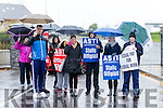 ASTI teachers striking from Mercy Mounthawk Tralee on Tuesday