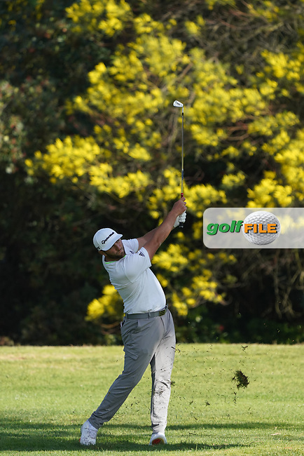Jon Rahm (ESP) in action during the first round of The Genesis Invitational, Riviera Country Club, Pacific Palisades, Los Angeles, USA. 12/02/2020<br /> Picture: Golffile   Phil Inglis<br /> <br /> <br /> All photo usage must carry mandatory copyright credit (© Golffile   Phil Inglis)