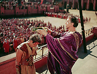 Ben-Hur (1959) <br /> Charlton Heston &amp; George Relph<br /> *Filmstill - Editorial Use Only*<br /> CAP/KFS<br /> Image supplied by Capital Pictures
