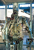 This articulated robot (android) was built for the National Aeronautics and Space Administration (NASA) Manned Spacecraft Center in Houston, Texas in the 1960s for use in spacesuit development.  Its hydraulic and electrical actuators replicated many of the human body's joint motions.  Sensors throughout the robot measured forces that a suit might exert on a person, so suit designers could determine the force a person would need to exert to move an arm or leg or turn their head.  Using this robot enabled testing that might otherwise have been painful, tedious, or dangerous for a human being.  It is one of the artifacts on permanent display at the Smithsonian National Air and Space Museum Steven F. Udvar-Hazy Center in Chantilly, Virginia on December 11, 2004..Credit: Ron Sachs / CNP.(RESTRICTION: NO New York or New Jersey Newspapers or newspapers within a 75 mile radius of New York City)