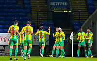 West Bromwich Albion players celebrate their second goal<br /> <br /> Photographer Alex Dodd/CameraSport<br /> <br /> The EFL Sky Bet Championship - Bolton Wanderers v West Bromwich Albion - Monday 21st January 2019 - University of Bolton Stadium - Bolton<br /> <br /> World Copyright © 2019 CameraSport. All rights reserved. 43 Linden Ave. Countesthorpe. Leicester. England. LE8 5PG - Tel: +44 (0) 116 277 4147 - admin@camerasport.com - www.camerasport.com