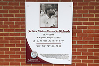 Sir Viv Richards tribute sign during Somerset CCC vs Essex CCC, Specsavers County Championship Division 1 Cricket at The Cooper Associates County Ground on 15th April 2017