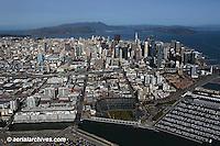 aerial photograph AT&T Giants baseball park south beach marina San Francisco California