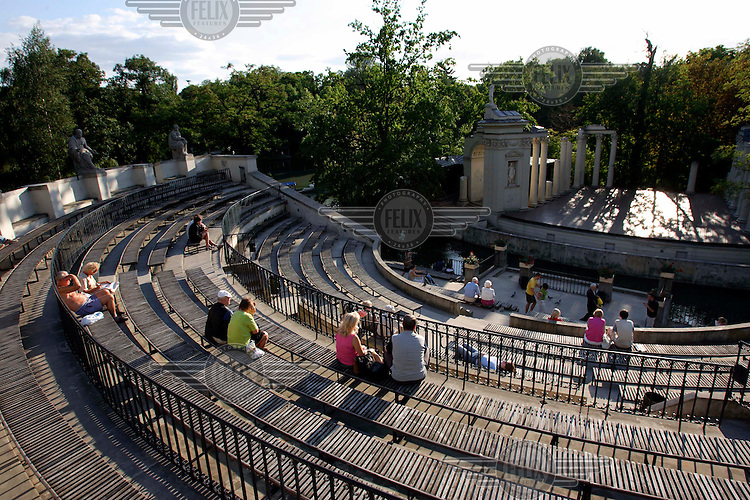 A summer afternoon at the Lazienki Park amphitheatre.