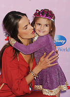"BURBANK, CA - NOVEMBER 10: Alessandra Ambrosio and daughter arrive at the Disney Channel's Premiere Party For ""Sofia The First: Once Upon A Princess"" at the Walt Disney Studios on November 10, 2012 in Burbank, California.PAP1112JP303..PAP1112JP303..PAP1112JP303.. NortePhoto /NortePhoto.com"