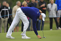 Martin Kaymer (GER) on the 11th green during Round 1of the Sky Sports British Masters at Walton Heath Golf Club in Tadworth, Surrey, England on Thursday 11th Oct 2018.<br /> Picture:  Thos Caffrey | Golffile<br /> <br /> All photo usage must carry mandatory copyright credit (© Golffile | Thos Caffrey)