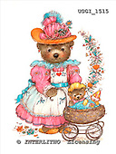 GIORDANO, CUTE ANIMALS, LUSTIGE TIERE, ANIMALITOS DIVERTIDOS, Teddies, paintings+++++,USGI1515,#AC# teddy bears