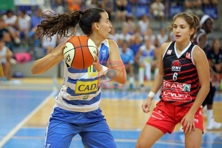 XXVIII Lliga Catalana Femenina 2016.<br /> Cadi La Seu vs Spar Citylift Girona: 71-57.<br /> Marta Montoliu vs Roso Buch.