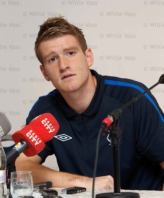 Steven Davis at the Europa League press conference in Maribor