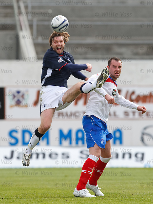 Steven Pressley gors Kung-Fu on Kris Boyd