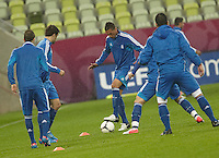 EURO 2012 - POLAND - Gdansk - 21 JUNE 2012 - Greece Offcial MD-1 Training Session at PGE Arena of Gdansk.